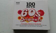 60S ORIGINALS 100 HITS 5 CDS BYRDS FLEETWOOD MAC LEE DORSEY TONY BENNETT ETC