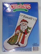DMC Christmas Stocking Cross Stitch Kit Good Shepherd Olde Time Santa 87207