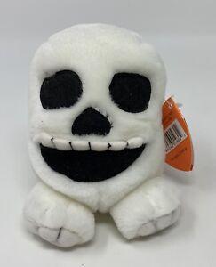 "Puffkins Skully Halloween Skeleton Bean Bag Plush Stuffed Animal Toy Swibco 4.5"""
