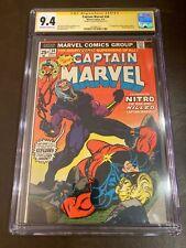 Captain Marvel #34 CGC 9.4 signed Jim Starlin story, art 1st app. Nitro, Mentor,