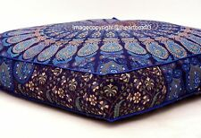 """Indian Mandala Square Cushion Floor Pillow Cover Seating Cover Ottoman Pouf 35 """""""