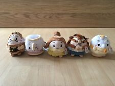 Authentic Disney Store Beauty and the Beast Ufufy (Small) Set of 5 NWT