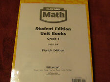 Harcourt Math student edition grade 1 Units 1-6 Elementary School 2004 Bulk (5)