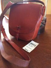 Pre-owned LUCKY BRAND Small Crossbody Purse Bag Dark Orange Brown Leather EUC!!