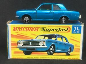Matchbox Superfast MB25-A3 (*HTF Dark Blue) Ford Cortina GT with Type G Box