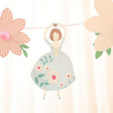 Princess Flower Girl Birthday Party Banner Bunting Home Room Hanging Ornament CB
