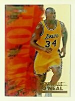 1996-97 NBA Hoops Hot List Acetate Shaquille O'neal #15 Los Angeles Lakers