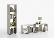 Raumteiler Mega 4, Sandeiche NB, Lowboard, Standregal, Bücherregal, 4 Fächer