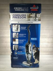 NEW BISSELL CrossWave Cordless MAX Floor & Carpet Cleaner Wet-Dry Vacuum 2554