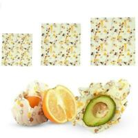 Reusable Eco-friendly Sustainable Re-washable Seal Food Wrap Beeswax Silico Y5Y8
