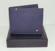 Tommy Hilfiger Wallet Men's Genuine Leather Coin Pocket Purple Authentic