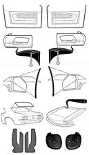 NEW! 1969 Mustang Deluxe Weatherstrip Kit for Hardtop Coupe cars 15 pc Set