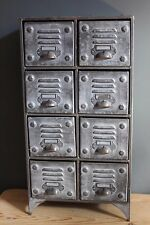 Industrial Vintage Retro Urban Style Metal Cabinet With 8 Drawers