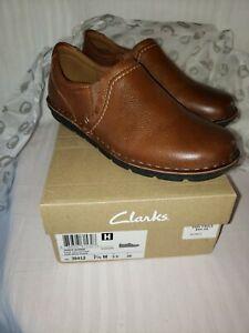 Clark's Janice Barrie Dark Tan Leather Women's Size 7.5 M Shoe Worn Once,...