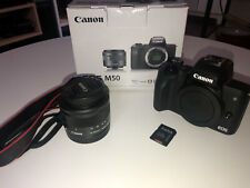 Canon EOS M50 Mirrorless Camera w/ 15-45mm EF-M Lens | Excellent Condition