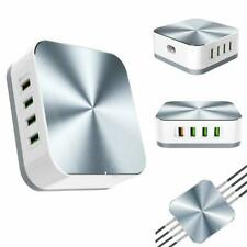 USB EU Quick Power Plug Charging Stations with 1 QC 3.0 Port, 50W 7-Port