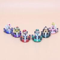 6 PCS Super Mario Kart Pull Back Car Luigi Toad Bowser Princess Figure Kids Toys