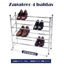 ZAPATERO METALICO 4 BALDAS 18 PARES ORGANIZADOR DE ZAPATOS GUARDA ZAPATOS METAL