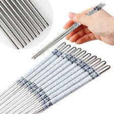 5/10Pairs Stainless Steel Chopsticks Anti-skip Chop sticks Set Assorted Kitchen