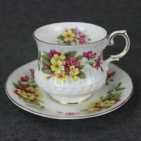 Rosina Bone China Tea Cup and Saucer Wild Flowers Queens Fine China England