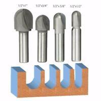 1Pc Round Nose Router Bit 1/2 Inch Shank Router Bit 1 Inch Head Diameter Bits