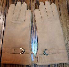 Vintage New Ladies Faux Suede Gloves Size A 6-6 1/2 Hong Kong