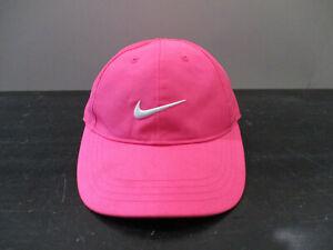 Nike Hat Cap Strap Back Pink White Swoosh Adjustable Youth Kids Girls