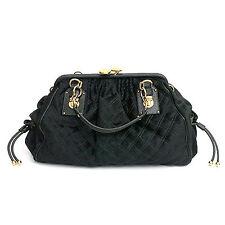 5751 auth MARC JACOBS bottle green CALF HAIR & leather STAM Shoulder Bag