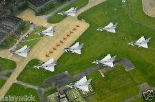 Royal Air Force RAF Typhoon Jets Diamond RAF Coningsby 12x8 Inch Photograph