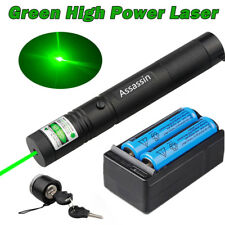 Assassin 50Mile Green Laser Pointer 18650 Battery Charger Visible 301 Lazer Pen