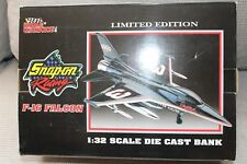 Racing Champions F-16 Falcon 1/32 Die Cast Coin Bank Dale Earnhardt NASCAR 1st.
