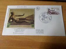 FRANCE 1973, FDC 1° JOUR, EUROPA, ART, L' AIR, A. MAILLOL