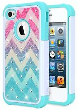 For Apple iPhone 4 4S NageBee® Hybrid Shockproof Diamond Bling Hard Case Cover