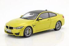 BMW DEALER MODELS M4 650i X4 diecast model road cars bronze yellow blue 1:18th
