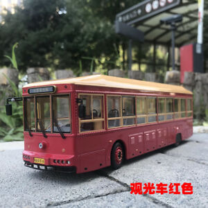 1/43 China BEIJING tour bus  diecast model dark red color