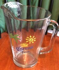 Corona Extra Glass Beer Pitcher 60 Ounces Heavy Duty Vintage