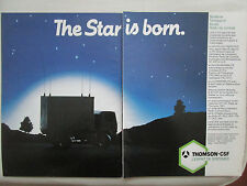 3/1985 PUB THOMSON-CSF TELECOMMUNICATIONS SYSTEME TACTIQUE STAR RADIO FRENCH AD
