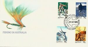 1979 Australia - Fishing in Australia FDC - FDI Melbourne Philatelic Bureau PMK