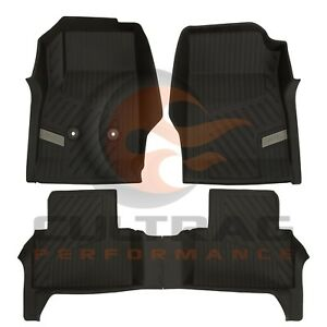 2015-2020 GMC Canyon Crew Cab GM Front & Rear All Weather Floor Liners Black