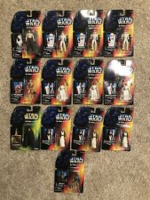 Kenner Star Wars Power Of The Force Action Figure Lot Luke Long Saber Boba Fett