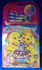 Lisa Frank Dream Writer's Travel Set Casey And Candy Puppy Love Note Pad Stencil