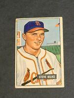 Steve Bilko St. Louis Cardinals 1951 Bowman #265 VGEX High Number