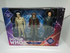"Dr Who Fourth 4th Doctor 5.5"" Collector 3 Figure Set 1970s Baker Brigadier Auton"