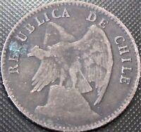1908 Chile 20 Veinte Centavos KM#151.3 - Silver Coin