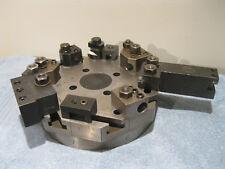 Hardinge Lathe Chucker Turret Top Plate 8 Station W/Holders machinist tools