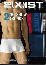 2(X)IST 2XIST NO SHOW TRUNKS BOXERS - SET OF 2 - BLUE & RED - LARGE L