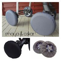 UNIVERSAL WHEELS COVER FOR PUSHCHAIR PRAM BUGGY FRONT REAR PROTECTION QUINNY