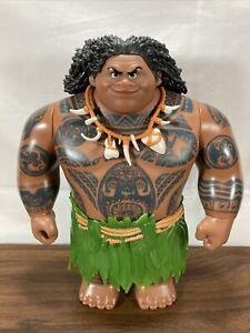 "2015 Hasbro Disney Moana Maui Mega Action Figure Doll, 10.5"" skirt - No Hook"
