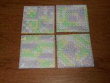 MIXED PASTELS COASTERS - 4 DIFFERENT DESIGNS - NEW