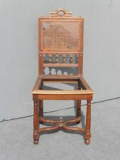 Gorgeous Antique Spanish Style Ornate Carved CANE ACCENT CHAIR No Cane on Seat